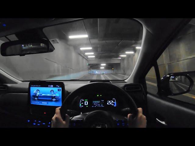 【Test Drive】2021 New TOYOTA AQUA(Prius C) 1.5L HYBRID 4WD(E-Four) - POV Night Drive