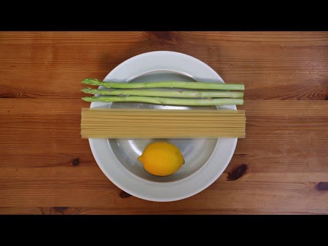 鶏肉とアスパラとレモンのクリームパスタを電子レンジで作りたい【パスタを折りたくない】【鍋とフライパンを洗いたくない】【ワンポットパスタ?】【ワンプレートパスタ?】