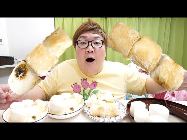 初めての巨大マシュマロ飴と無限焼きマシュマロを作って爆食いしたらふわふわで激ウマすぎた【ASMR】