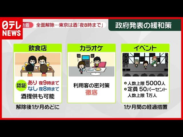 """【どう変化?】""""宣言""""全面解除 10月からの生活の変化は?東京は酒「夜8時まで」提供"""