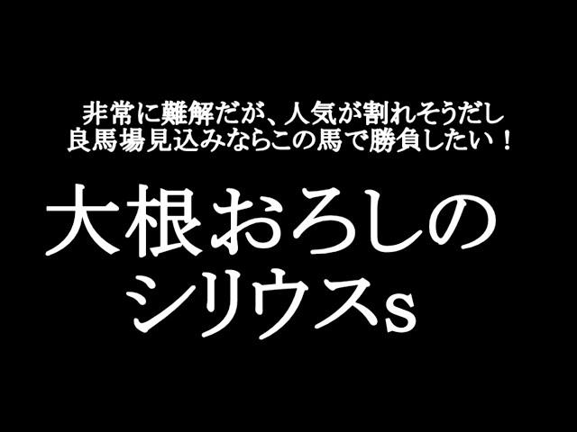 【競馬予想】シリウスステークス2021【大根おろし】