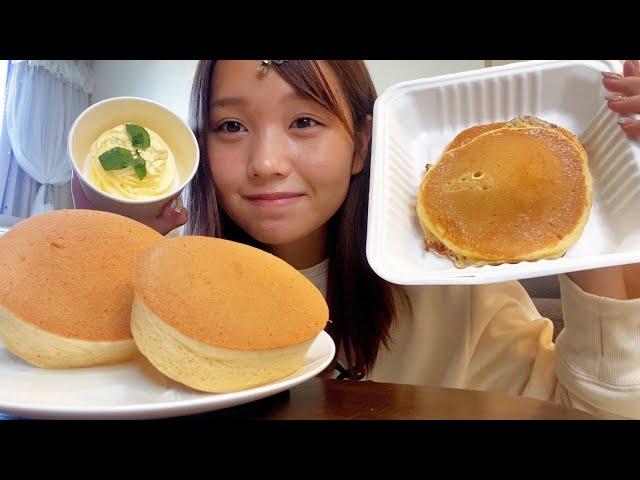 【爆食】パンケーキ食べたすぎて、大量に頼んでしまった。幸せ!!
