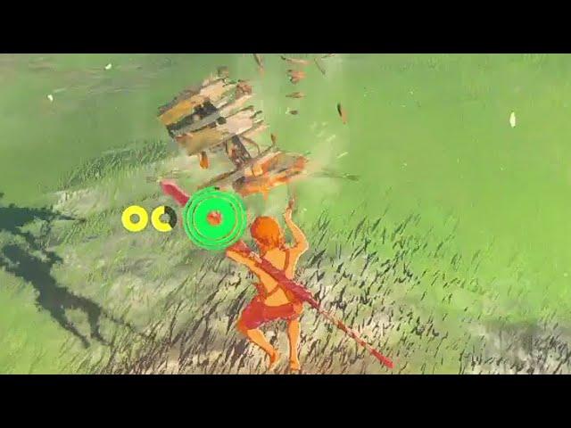依頼を受けて、空中でボコブリンが投げたタルに当たってみた