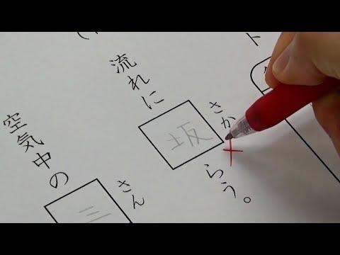 返された漢字テストに悪さをしてから親に見せる小学生