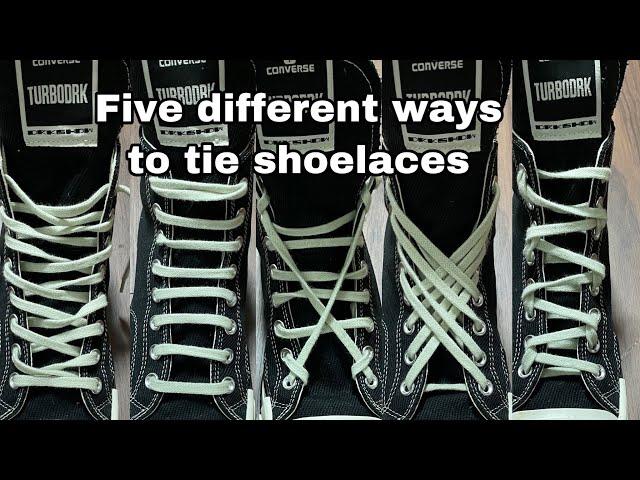 【保存版】スニーカーの靴紐の通し方5パターン。Five different ways to tie shoelaces Pt1