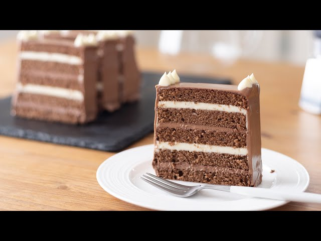 チョコレートのバタークリームケーキの作り方 Chocolate Butter Cream Cake HidaMari Cooking